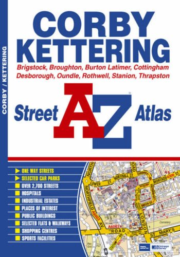 9781843485452: Corby and Kettering Street Atlas