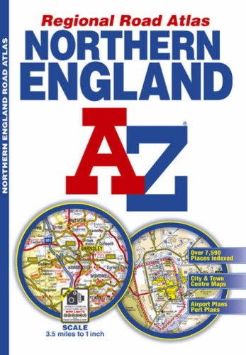 9781843485780: Northern England Regional Road Atlas (A-Z Regional Road Atlas)