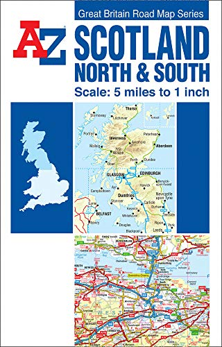 9781843486299: Scotland North and South Road Map AZ (A-Z Road Maps & Atlases)