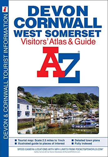 9781843486459: Devon, Cornwall and West Somerset Visitors' Atlas (A-Z Street Maps & Atlases)