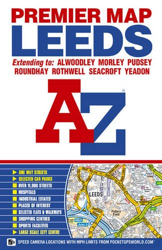 9781843486534: Leeds Premier Map (A-Z Premier Street Maps)