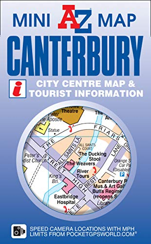 Canterbury Mini Map: Geographers A-z Map