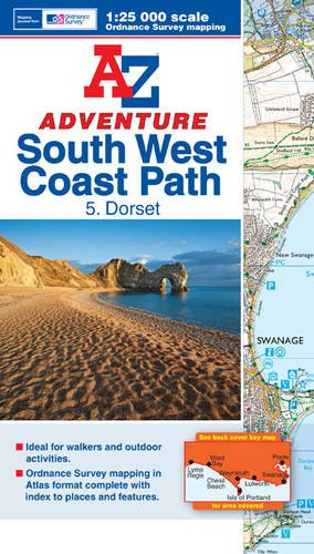9781843488767: SW Coast Path Dorset Adventure Atlas- A-Z (A-Z Adventure Atlas)