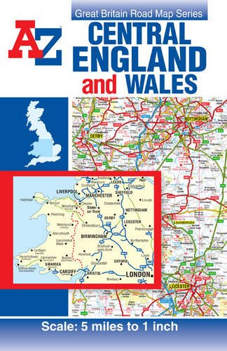 Cen. Eng. & Wales Road Map (A-Z Road Map): Geographers A-Z Map Company Ltd