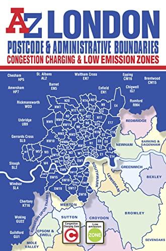 9781843489252: London Postcode & Administrative Boundaries Map