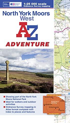 9781843489344: North York Moors (West) Adventure Atlas 1:25K A-Z (A-Z Adventure Atlas)