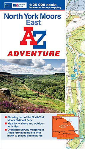 9781843489351: North York Moors (East) Adventure Atlas 1:25K A-Z (A-Z Adventure Atlas)