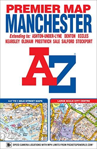 9781843489382: Manchester Premier Map (A-Z Premier Street Maps)