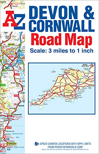 9781843489443: Devon & Cornwall Road Map (A-Z Road Map)