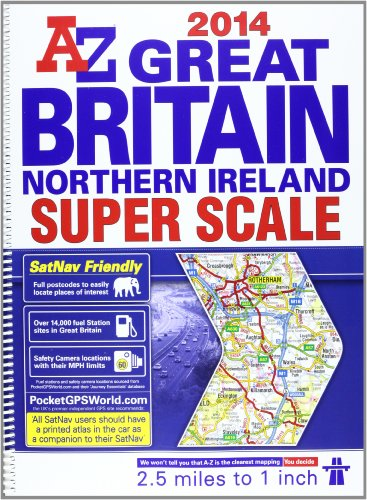 9781843489511: Great Britain Super Scale Road Atlas (A-Z Road Atlas)