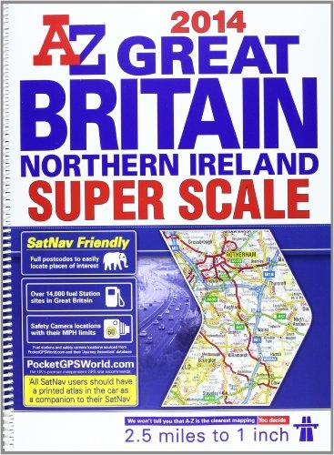 9781843489511: Great Britain Super Scale Road Atlas 2014 (A-Z Road Atlas)
