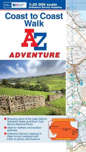 9781843489580: Coast to Coast Adventure Atlas 1:25K A-Z (A-Z Adventure Atlas)