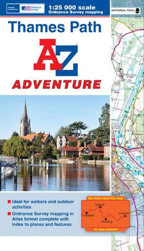 9781843489597: Thames Path Adventure Atlas A-Z 1:25K (A-Z Adventure Atlas)