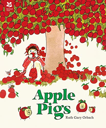 Apple Pigs 9781843653028 A beloved tale of a family finding a very enjoyable way to dispose of surplus apples, reissued to be enjoyed by today's children This beautifully illustrated tale of an apple tree that grows too many apples is delightfully told in rhyme. A little girl finds a withered apple tree surrounded by rubbish. To stop the tree being chopped down for firewood, she clears the rubbish to help the poor tree grow. When Spring arrives, the tree bursts into blossom and produces a glut of apples. But as the little girl's family try to eat, cook and hide the apples in rugs, blankets, wagons, and jugs, the apples continue to grow! There is only one answer: an apple feast! This wonderful tale will give readers an appreciation of nature's bounty and the importance of sharing. It includes a guide to making your own  apple pig —a fruit sculpture that looks just like a pig!