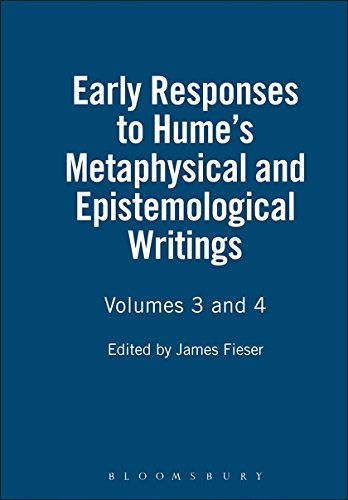 9781843711162: Early Responses to Hume's Metaphysical and Epistemological Writings: Volumes 3 and 4 (Vol 3 & 4)