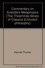 9781843715467: Commentary on Aristotle's Metaphysics (The Thoemmes library of Classics & Ancient philosophy)