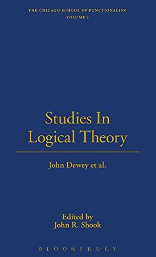 Studies in Logical Theory: Dewey, Jennifer