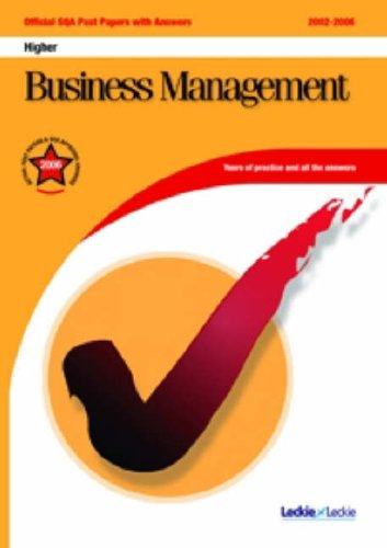 9781843724353: Business Management Higher SQA Past Papers (Official Sqa Past Paper)