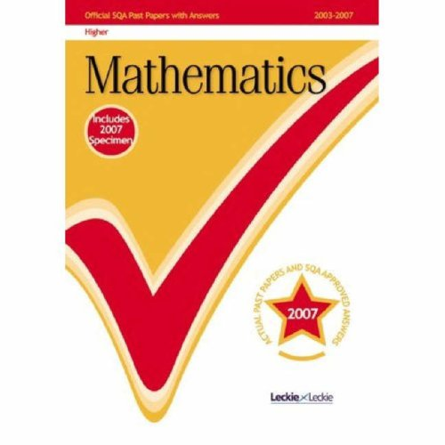 9781843725602: Maths Higher 2007/2008 SQA Past Papers