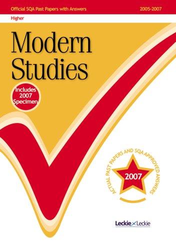 9781843725619: Modern Studies Higher 2007/2008 SQA Past Papers