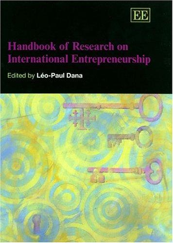 9781843760696: Handbook of Research on International Entrepreneurship (Elgar original reference)