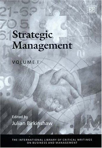 9781843762782: Strategic Management (The International Library of Critical Writings on Business and Management)