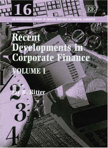 Recent Developments in Corporate Finance (Hardback)