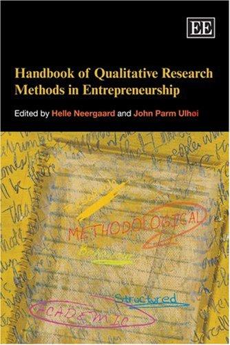 9781843768357: Handbook of Qualitative Research Methods in Entrepreneurship (Elgar Original Reference)