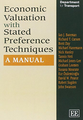 9781843768524: Bateman, I: Economic Valuation with Stated Preference Techn: A Manual (In Association With the Uk Department for Transport)