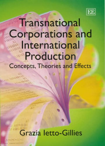 9781843768562: Transnational Corporations And International Production: Concepts, Theories And Effects