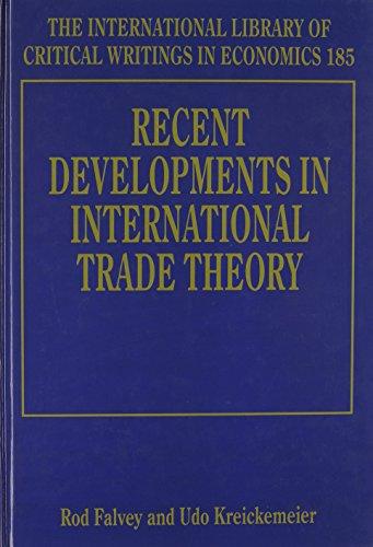 Recent Developments in International Trade Theory (Hardback)