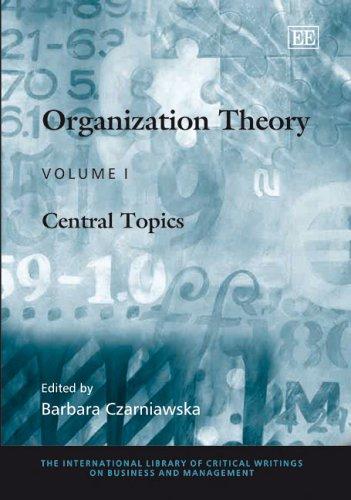 Organization Theory: Czarniawska-Joerges, Barbara (EDT)