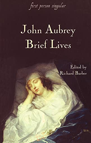 9781843831129: Brief Lives (First Person Singular)