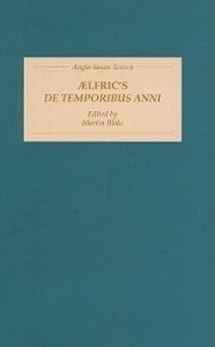 Aelfric's De Temporibus Anni: Blake, ed.