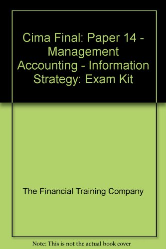 9781843900313: Cima Final: Paper 14 - Management Accounting - Information Strategy: Exam Kit