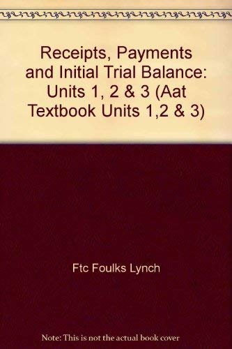 Receipts, Payments and Initial Trial Balance: Units: Ftc Foulks Lynch