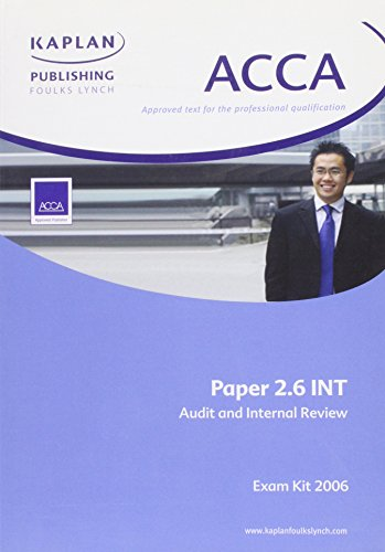 Audit and Internal Review International Stream (ACCA Exam Kit)
