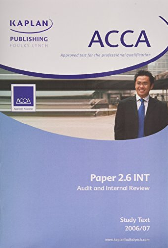 ACCA Paper 2.6 Int Audit and Internal: Kaplan Publishing