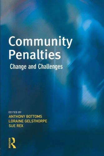 9781843920076: Community Penalties (Cambridge Criminal Justice Series)