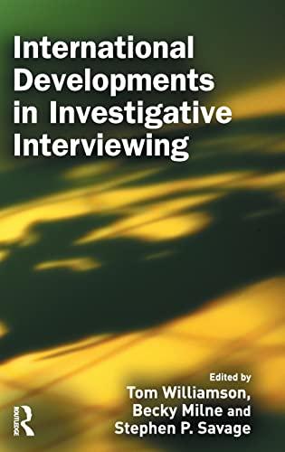 9781843922766: International Developments in Investigative Interviewing