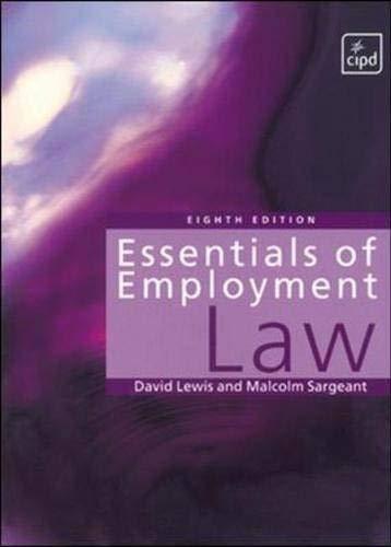 9781843980018: Essentials of Employment Law