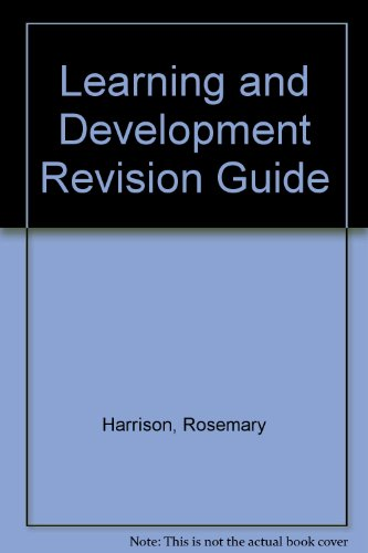 Learning and Development Revision Guide: Harrison, Rosemary