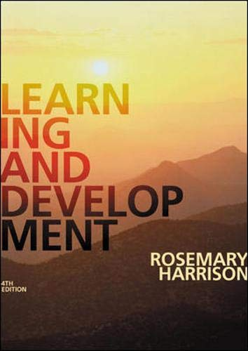 9781843980506: Learning and Development