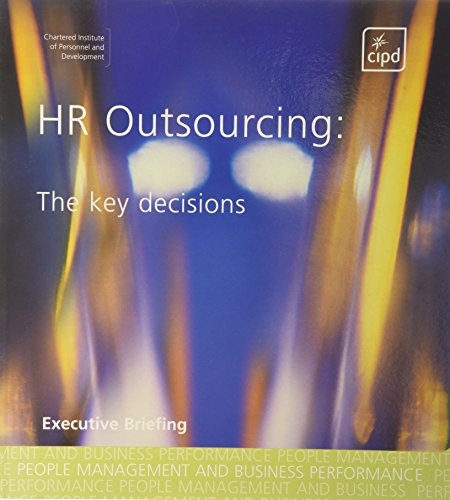9781843981367: HR Outsourcing: The Key Decisions