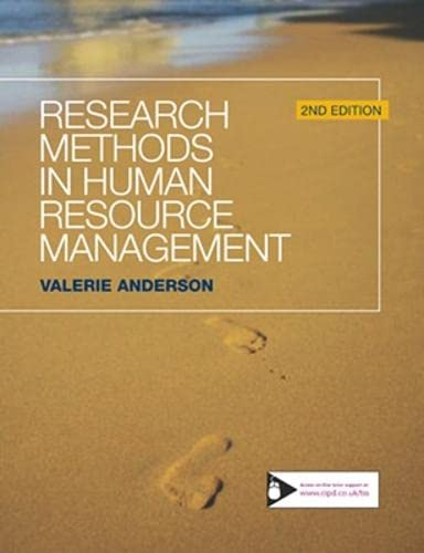 9781843982272: Research Methods in Human Resource Management