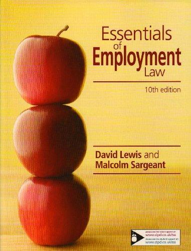 9781843982319: Essentials of Employment Law