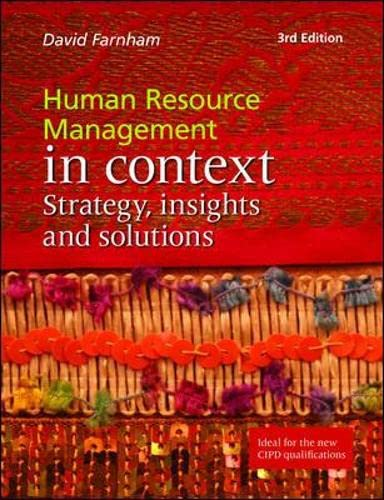 9781843982593: Human Resource Management in Context