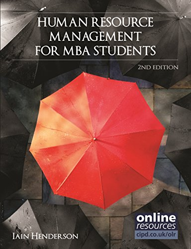 Human Resource Management for MBA Students (Cipd: Henderson, Iain