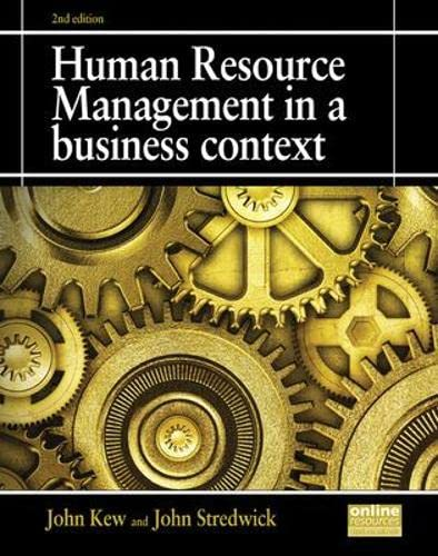 9781843983170: Human Resource Management in a Business Context