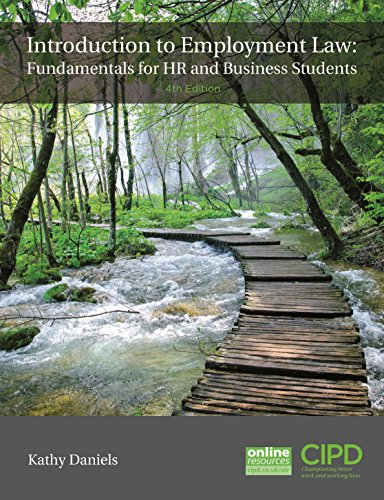 9781843984078: Introduction To Employment Law: Fundamentals for HR and Business Students